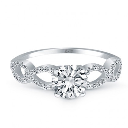 Round Brilliant Cut Diamond Infinity Engagement Ring