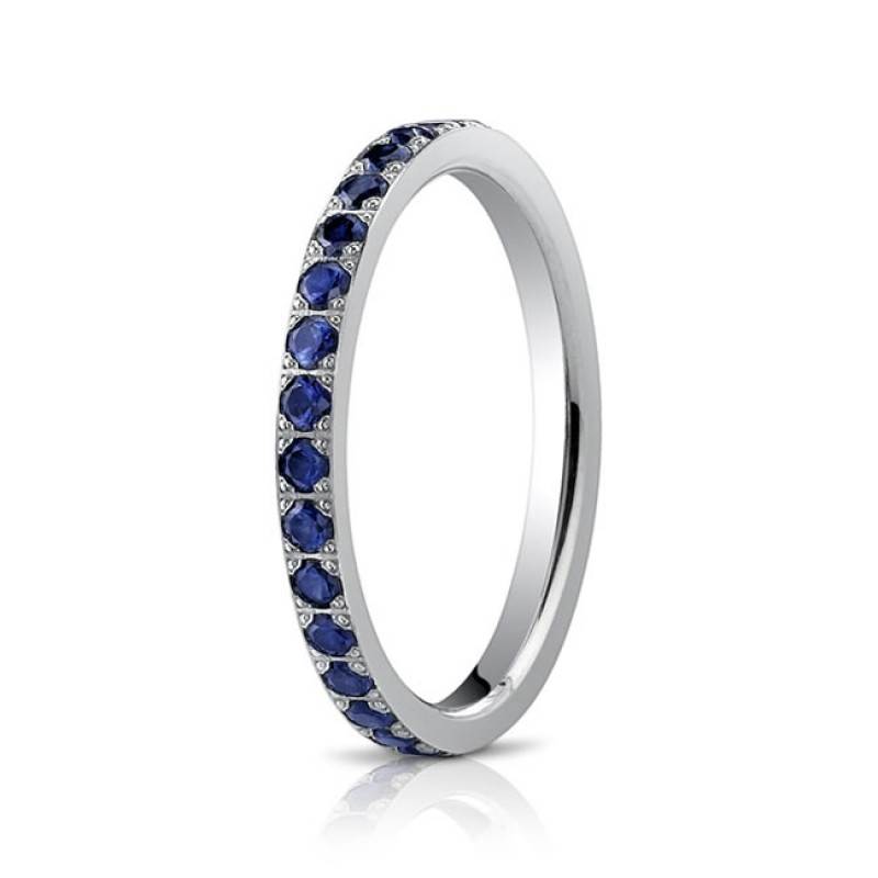 2mm Sapphire Eternity Band