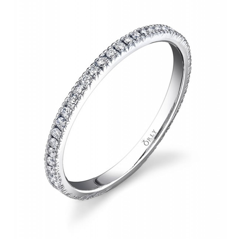 gold band bands diamond white product pave ring