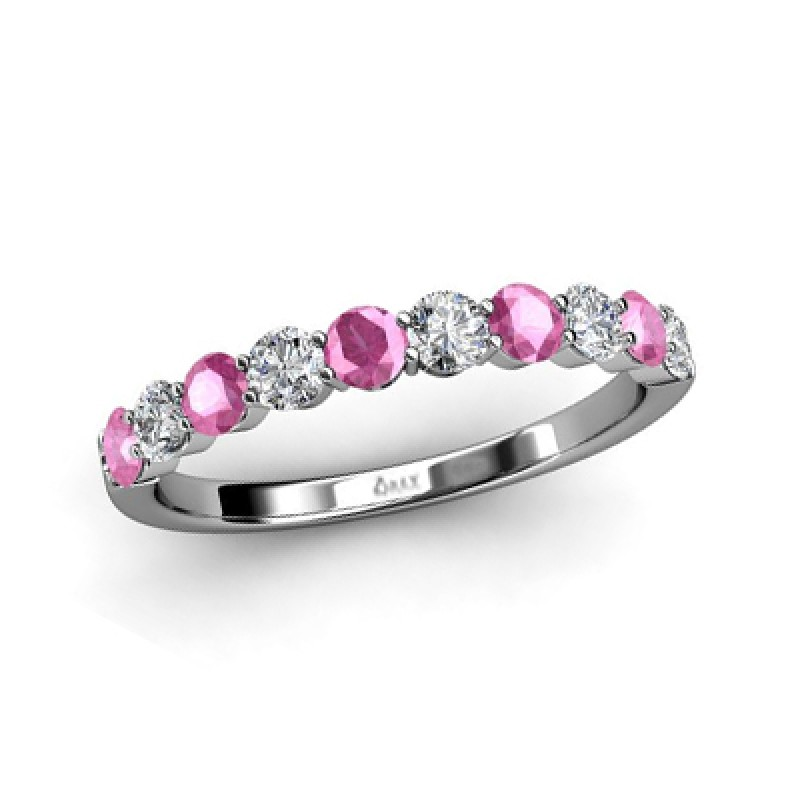 Diamonds and Pink Sapphires Band