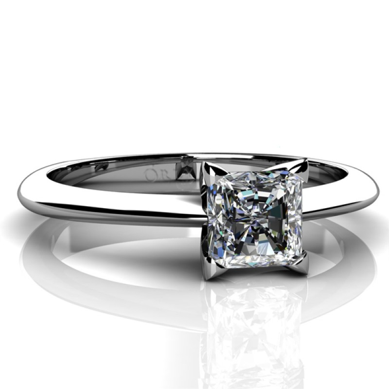 princess Cut Solitaire Engagement Ring