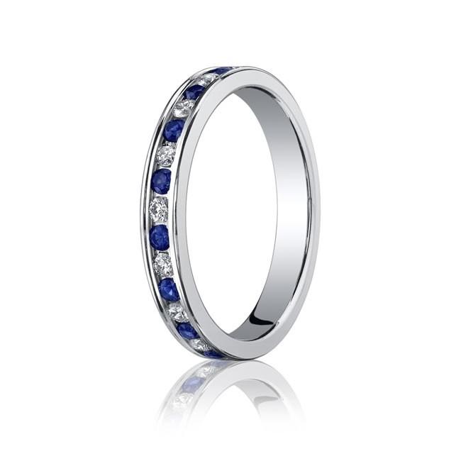 3.5mm Sapphire & Diamond Eternity Band