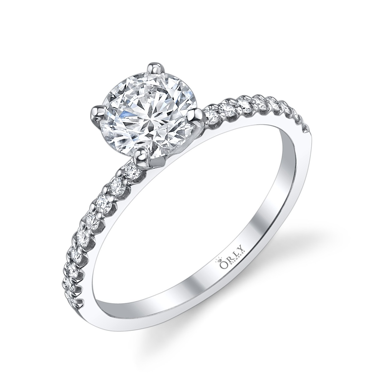 Round Brilliant Cut Diamond in Elegance Setting