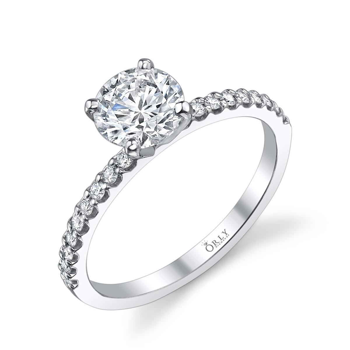 Round Brilliant Cut Diamond in Elegance Setting 1.18 carats tw