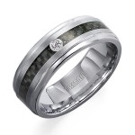 Tungsten Carbon Fiber Diamond Band