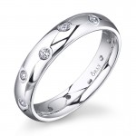 Round Brilliant Wedding Band