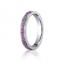3.5mm Pink Sapphire Eternity Band