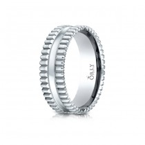 7mm Single Cut Carved Band