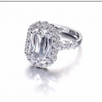 18k White Gold L'amour Diamond Engagement Ring  1.88 carats tw