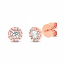 14k Rose Gold Orstar Diamond Studs