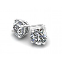14K White Gold Diamond Studs 1/5 carat
