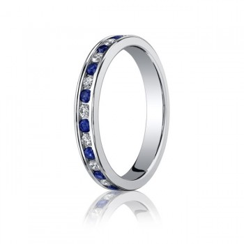 3.5mm Sapphire & Diamond Eternity Band