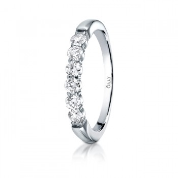 3mm Shared Prong Partial Diamond Comfort Fit Band