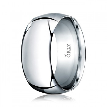 10mm Oval Polished Finish Comfort Fit Band