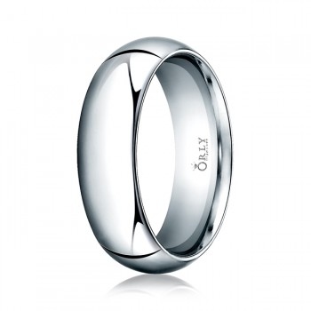 7mm Oval Polished Finish Comfort Fit Band