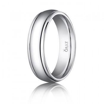6mm Double Cut Polished Finish Carved Band