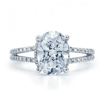 Oval Diamond With Split Shank