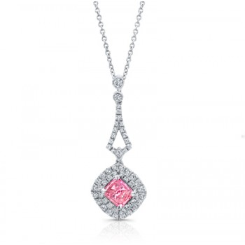 PINK DIAMOND WITH HALO PENDANT