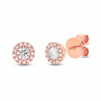14k Rose Gold Orstar Diamond Studs