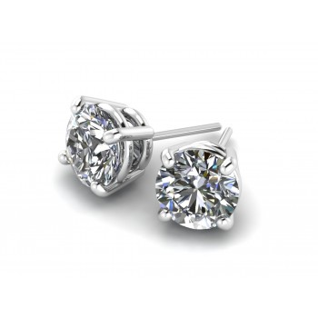 14K White Gold Diamond Studs 1.05 carat total weight