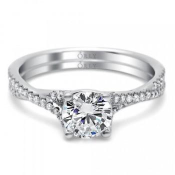 ROUND BRILLIANT CUT DIAMOND WITH TWISTED DIAMOND SHANK