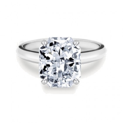 Radiant Cut Diamond Solitaire Ring